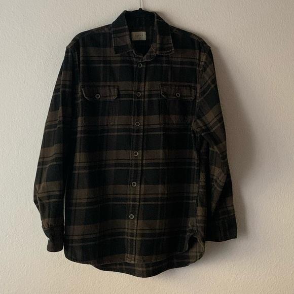 Jachs Other - JACHS Button-Down Flannel Brown & Black Size L